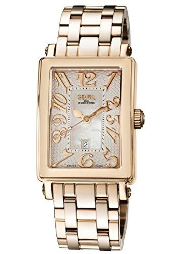 Gevril de la mujer 9345rb Avenue Ladies Midsize IPRG caso blanco Dial IPRG pulsera banda reloj.