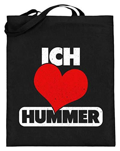 Chorchester Ich Liebe Hummer Tier Und Essen Fans - Jutebeutel (mit langen Henkeln) -38cm-42cm-Schwarz