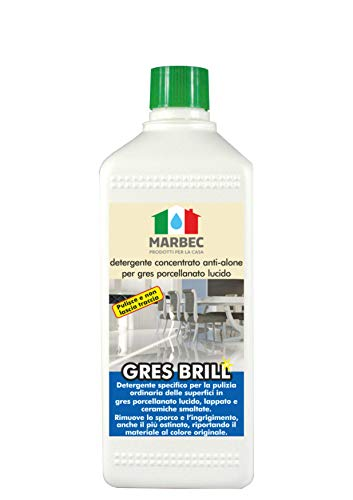 Marbec - GRES Brill 1LT   Detergente concentrato Anti-Alone per gres porcellanato Lucido