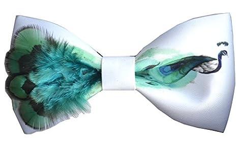 Cloud Rack Plume De Paon Textile Printing Noeud Trois Dimensions (Bleu Vert Rouge)