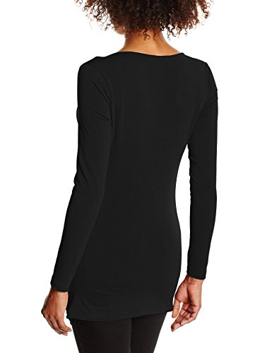 HotSquash Damen Langarmshirt Everyday Goddess Schwarz (Black)