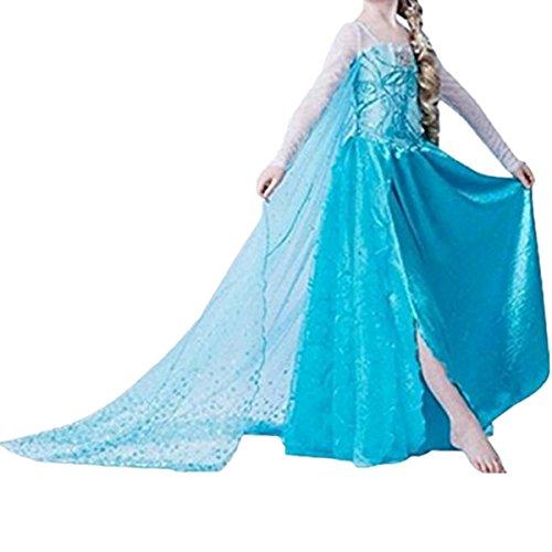 Kosplay Mädchen Partei Kostüm Prinzessin Kleid Prinzessin Kleid Kostüme Eiskönigin Prinzessin Kostüm Kinder Kleid Mädchen Weihnachten Verkleidung Karneval Party Halloween - Kleine Mädchen Bauchtänzerin Kostüm