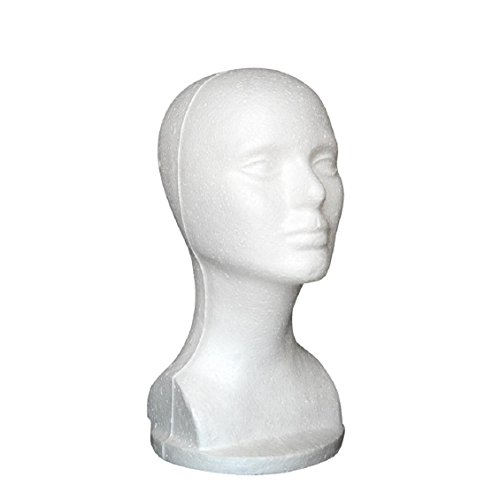 (Dummy Modell Köpfe, Transer® Weiblich Mannequin Styropor für Kopf Modell Schaumstoff Styropor Hat Gläser Haar Perücke Mannequin Ständer Display Kopf Modell Brust)