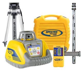 Spectra Precision HV101Premium kit laser con rilevatore HR320personale, 2.4m, Surveying treppiede e certificato di taratura