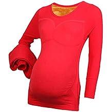 cb46f7bbf KINDOYO Mujer Embarazada Disfraz - Otoño Invierno Conjunto de Maternidad  Cinturón Ajustable Más Grueso