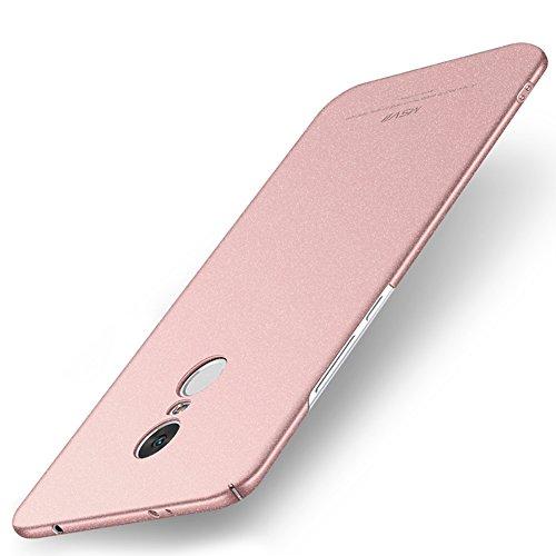 Xiaomi Redmi Note 4X Hülle, MSVII® PC Kunststoff Härte Hülle Schutzhülle Case Und Displayschutzfolie für Xiaomi Redmi Note 4X (Nicht mit Redmi Note 4 kompatibel) - Rose Gold JY30015 Rose Gold
