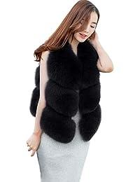 Familizo Femmes Hiver Chaud Fausse Fourrure de Fourrure de Gilet, Veste  Gilet Veste Courte Outwear Coat, Gilet sans… 37a6a24e9dac