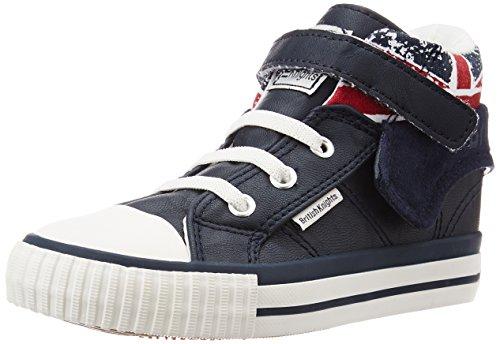 British Knights Unisex Baby ROCO Krabbel-& Hausschuhe, Bleu (Navy/Union Jack), 20 EU