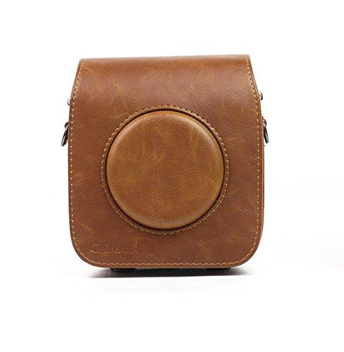 Für Fujifilm Instax quadratisch SQ10Kamera PU Leder Tasche Case Vintage Schultergurt Tasche Kamera Carry Cover Schutz Fall