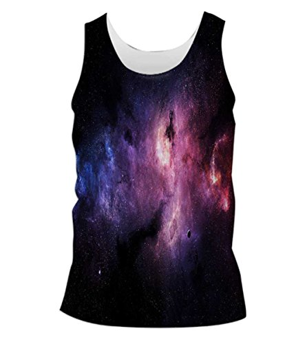 Snoogg-Inner-Space-Mens-Casual-Beach-Fitness-Vests-Tank-Tops-Sleeveless-T-shirts