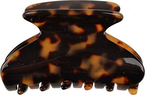 Solida Pince à cheveux en Rhodoid, avec 4 strass de diamants, Tokyo foncé, fabriqué en France, 1 pièce