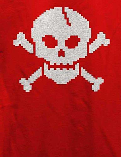 Pixel Skull T-Shirt Rot