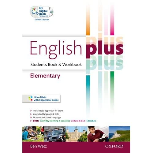 English Plus. Elementary. Student's Book-Workbook. Ediz. Standard. Per Le Scuole Superiori. Con Cd Audio. Con Espansione Online