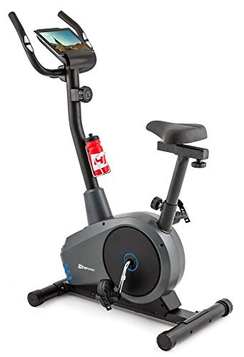 Hop-Sport Heimtrainer HS-2080 Ergometer Fitnessgerät mit Pulssensoren & Computer (Blau)