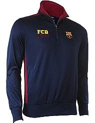 Sweat demi zippéa BARCA - Collection officielle Fc Barcelone - Taille adulte homme