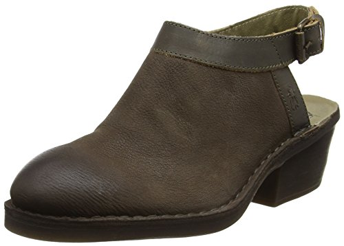 FLY London Deyo894, sandales compensées  Femme Marron (Ground/Khaki 007)