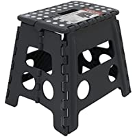 150KG Tall Single Step Plastic Folding Step Up Stools Collapsible Foldaway Large Heavy Duty