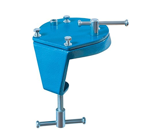 Heuer 119104 Drehteller + Tischklammer (Drehklammer 2 in 1 Flexible Befestigung Gewicht 1,7 kg Tischsstärke Schraubstock), 10-60 mm/120 mm