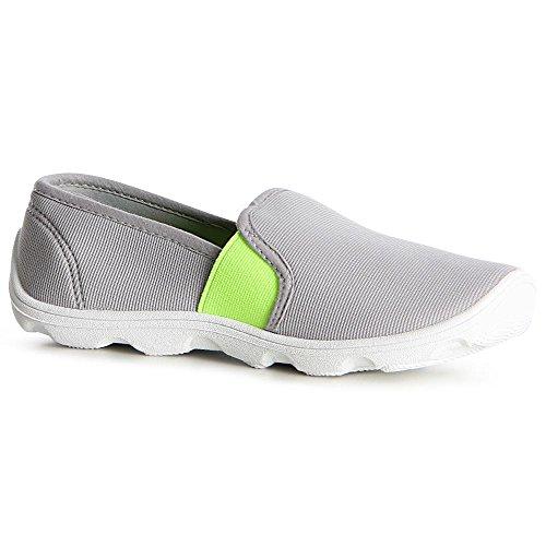 topschuhe24 1122 Damen Slipper Sneaker Ballerina Wasserschuhe Grau