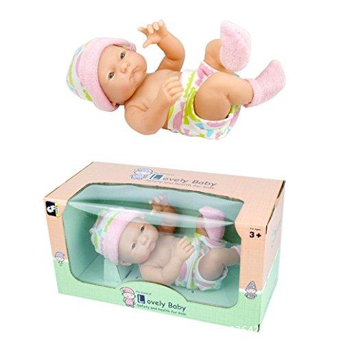 HKFV Kuschel-Baby-entzückende Puppen-Sammlung 9,5-Zoll-Baby-Puppe-weicher Körper-Baby-Puppe Schöne Baby 9,5 Zoll Puppe Puppen Puppe Simulation Puppe 9.5 inch Doll Baby (Baby Grace)