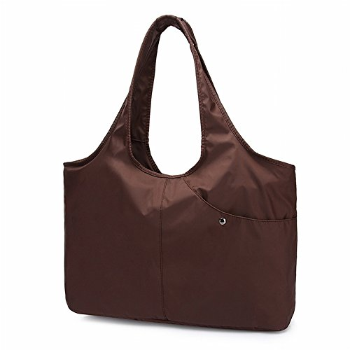 Beiläufige Reine Farbe Multi-Tasche Tasche Mode Hand Hält Regenschirm Tasche Umhängetasche Mutter Tanz Tasche Wasserdichte Handtasche , braun