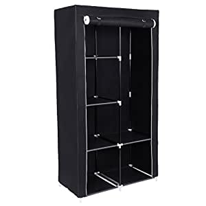 songmics xl stoffschrank faltschrank 7. Black Bedroom Furniture Sets. Home Design Ideas