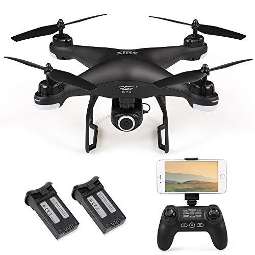 SJ R / C S20W1080P (GPS) FPV Regolabile 1080P HD Camera Wide Angle RTF Doppio GPS Posizionamento Altitude Hold Drone w / Due batterie (nero)