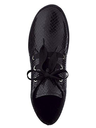 Damen Schnürstiefelette aus weichem Leder by Naturläufer schwarz schlange g