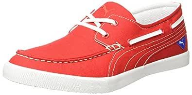 Puma Men's Ferry IDP High Risk Red-Puma White Boat Shoes - 10 UK/India (44.5 EU) (36638102)