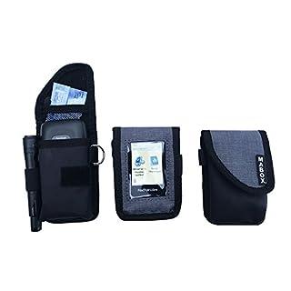 Schutztasche für Freestyle Libre Player, Model Smart'Access Mabox–Schwarz/Grau