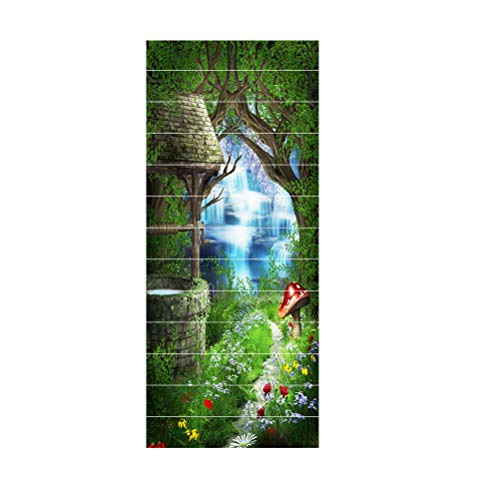 Vosarea 13 Stück 3D Aufkleber Treppe Wasserdicht Wandsticker Sticker Dekoration für Zuhause