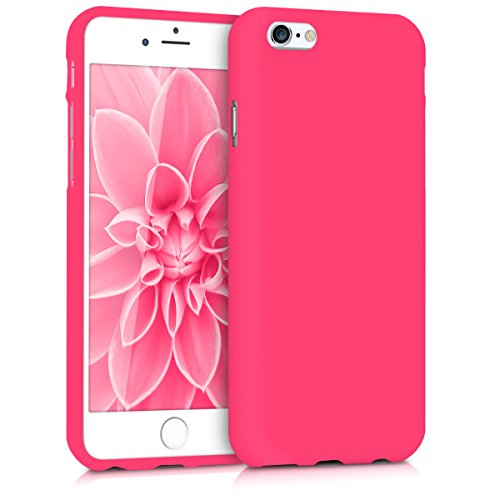 kwmobile Hülle für Apple iPhone 6 / 6S - TPU Silikon Backcover Case Handy Schutzhülle - Cover Neon Pink