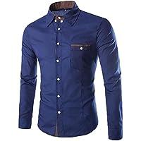 YUYU Camicie uomo tasca semplice sottile leggera senza tag ,