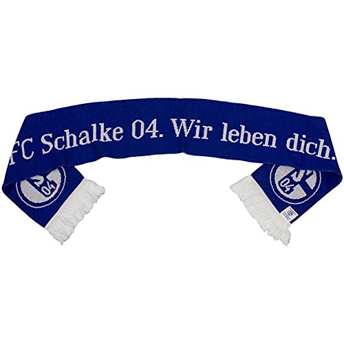 FC Schalke 04Hemos Querido Dich Bufanda Bufanda Azul/Blanco