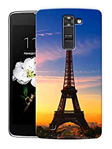 """Humor Gang Eiffel Tower Beautiful Scenery - Paris Printed Designer Mobile Back Cover For """"LG K7"""" (3D, Matte Finish, Premium Quality, Protective Snap On Slim Hard Phone Case, Multi Color)"""