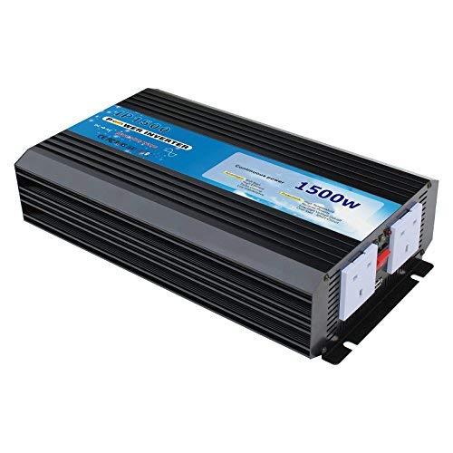Reiner Sinus-Wechselrichter, 1500 W (Höchstwert: 3000 W), 12-V-Gleichstrom zu 230-V-Wechselstrom, für netzunabhängige und Reserve-Stromsysteme