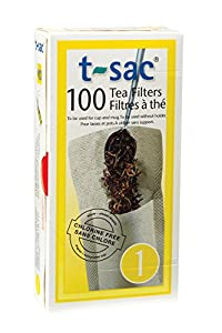 T-Sac Tea Filter Bags, Disposable Tea Infuser, Number 1-Size, 1-Cup Capacity, Set of 1,000