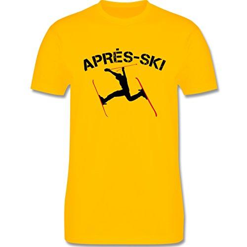 Après Ski - Apres Ski - Herren Premium T-Shirt Gelb