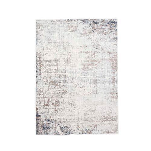 Kurzflor Design-Teppich Kim Antik - Beige-Creme meliert | Orientalisches Muster im modernen Vintage-Design Used-Look | Wohnzimmer, Schlafzimmer, Arbeitszimmer, Farbe:Beige / Creme, Größe:120 x 170 cm