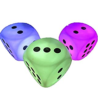 AmaMary  Creative Battery Powered Puzzle Game Discoloration LED Dice for Night Head Bedroom Decoration Light