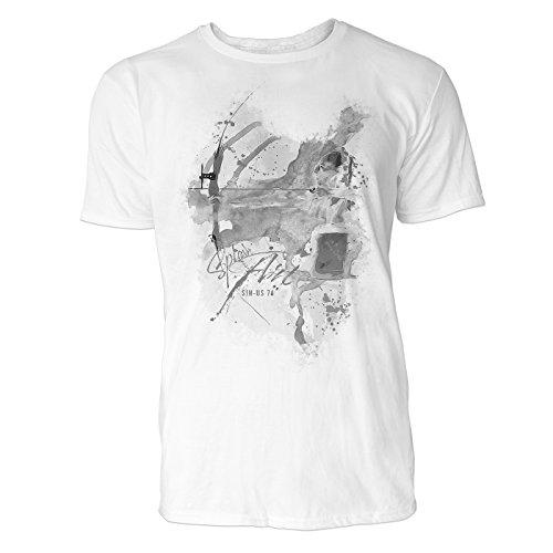 ich Sinus Art ® Herren T Shirt ( Schwarz Weiss ) Sportshirt Baumwolle (Pfeil Anzug-kollektion)