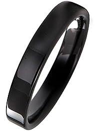 deed3dc4dcc6 Everstone Anillo de titanio negro Hombre de los anillos Anillo de bodas  Buen regalo para tu
