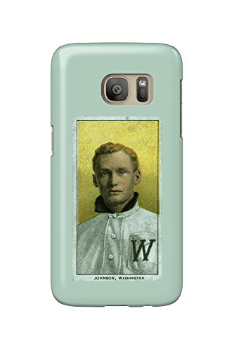 Walter Johnson Baseball (Washington Nationals - Walter Johnson - Baseball Card (Galaxy S7 Cell Phone Case, Slim Barely There))