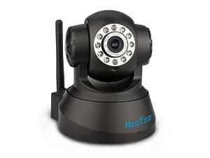 HooToo® HT-IP206 WiFi WLan zwei-Wege Audio Professionell Pan(270°) Tilt(120°) IP Kamera Schwarz mit eingebautem Mikrophon, Motion Detection Alarm und I/O Alarm, unterstützt DNS Service