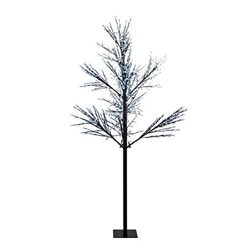 Blumfeldt - albero luminoso hanami, 600 luci a led, luce bianca calda schwarz - cw 300 kirschblütenform