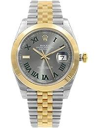 Rolex Datejust 41Inoxidable Acero y 18K Amarillo Oro ostra Reloj Negro Dial 126303