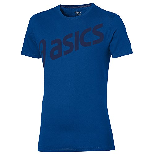 Asics Logo SS Top, blu, XXL