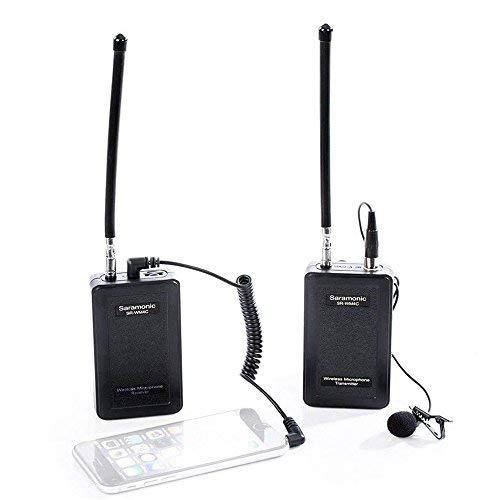 Saramonic SR-WM4C Wireless Lavalier-Mikrofon-System für IOS Smartphone iPhone 8 7 7 plus 6 iPad und DSLR-Kameras Camcorder Canon 6D 600D 5D Nikon D800 Sony DV Wireless Hot Shoe