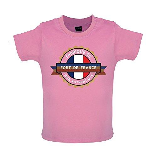 Fabrique en Fort-de-France 100% Authentique - T-shirt pour bébé - 8 couleurs - tailles 3-24 mois