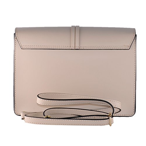 BORDERLINE - 100% Made in Italy -100% Made in Italy - Starre Tasche Frau Echtes Leder - FEDERICA Beige